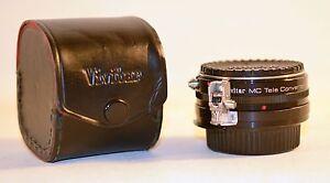 Vintage Vivitar MC Tele Converter 2x-3 with Case