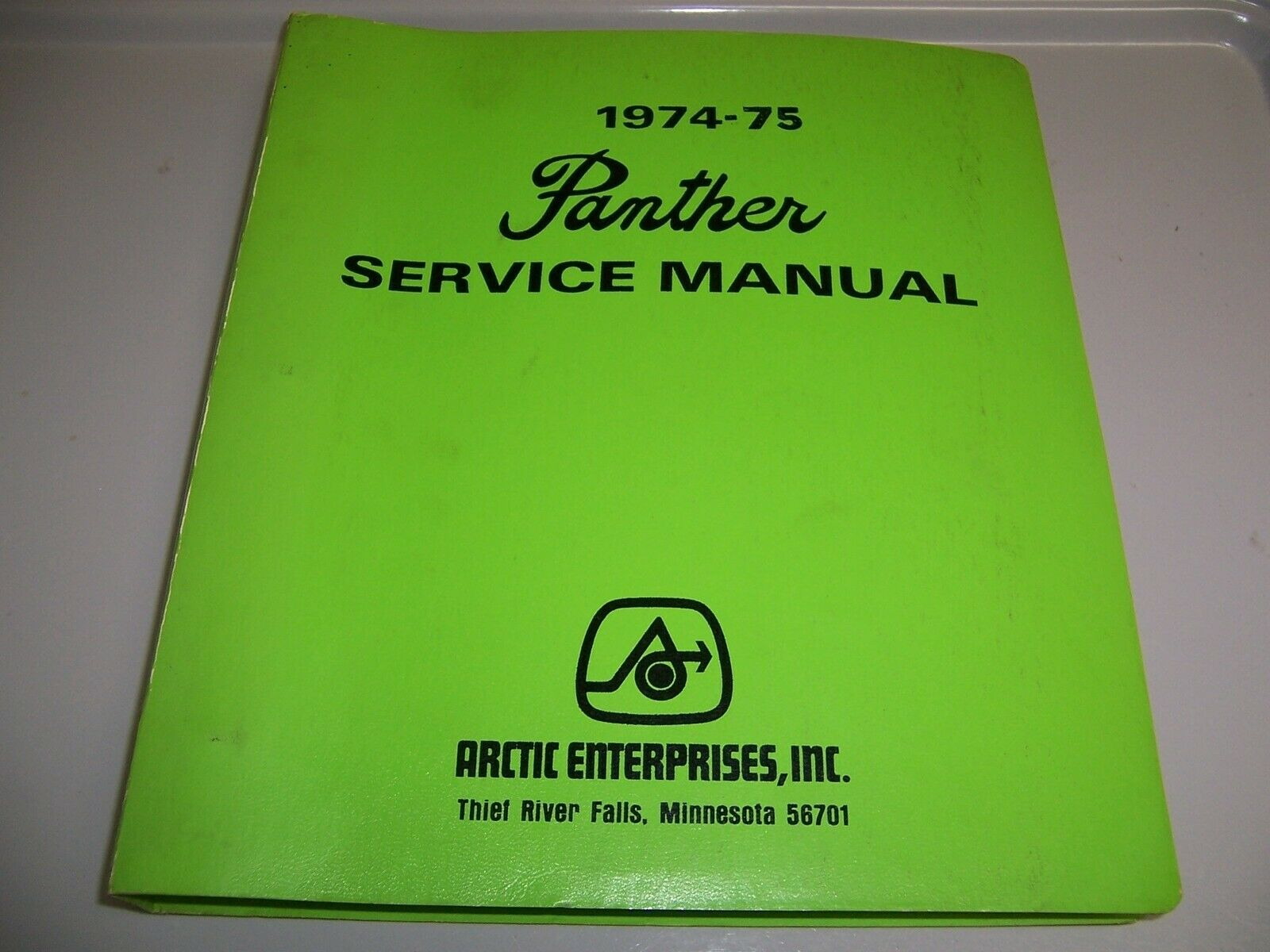 Original Vintage Arctic Cat 1974-75 Panther OEM Service Manual