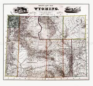 MAP-ANTIQUE-1883-HOLT-WYOMING-STATE-USA-LARGE-REPRODUCTION-POSTER-PRINT-PAM1960