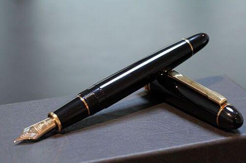 PTB-20000P#1 Nib Fountain Pen Medium PLATINUM PRESIDENT Black 18K Gold M