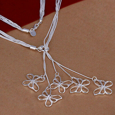Free shipping!Hot WholeSale New Fashion Solid Silver Beautiful Necklace TN055
