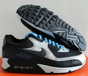 Details about NIKE MEN AIR MAX 90 iD BLACK SILVER WHITE SZ 10.5 [455686 993]