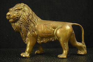 Scultura-di-Leone-Statue-034-R-034-in-Bronzo-421-G-13-5-cm-di-Lunghi-8-cm-Altezza