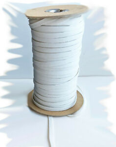 1-4-034-or-3-8-034-or-1-2-Inch-Elastic-5-or-10-Yards-Lot-White-Choose-Mask-Sewing-Trim