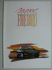 Prospekt 1993 Pontiac Firebird, aprox. 1993, 4 páginas