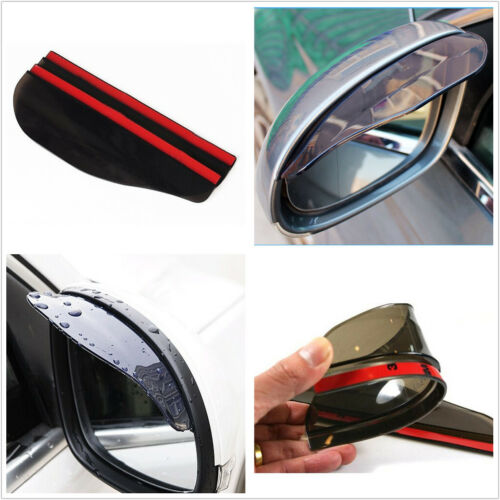 Shield Shade Eyebrow Rearview 2Pcs Auto Truck Mirror Rain Board Sun Visor Guard