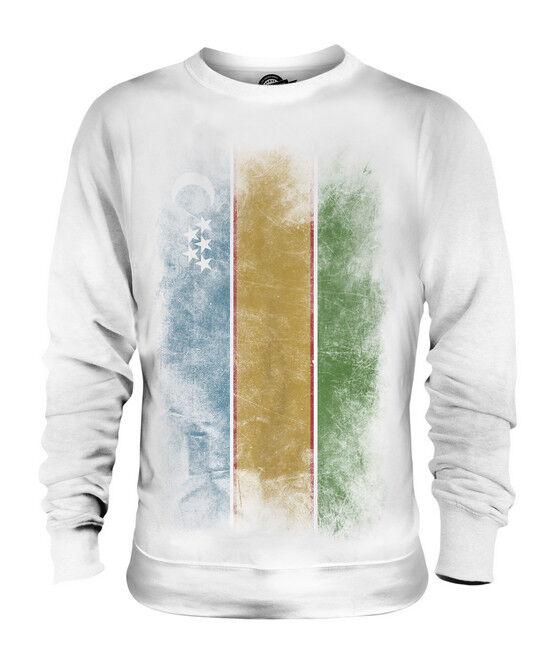 KARAKALPAKSTAN FADED FLAG UNISEX SWEATER TOP FOOTBALL GIFT SHIRT CLOTHING