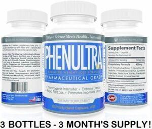 Details About 3 Phenultra Lose Weight Best Diet Pills Adipex P Woman Men Appetite Suppressant