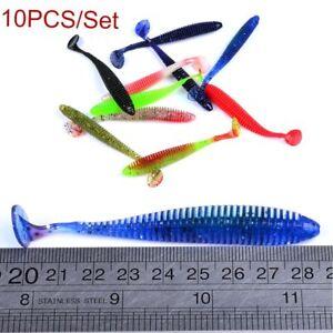 würmer fisch ködern spiel den kopf köder fischerei 8 cm ausrüstung weich