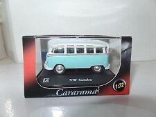 Cararama 1/72 Scale Volkswagon VW Transporter Samba Minibus Light Blue & White