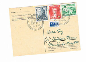 Bi-zone MiNr. 100-110 sur en blanc carte avec sst allemande construction exposition-afficher le titre d`origine 8He5O19f-07165122-584462726