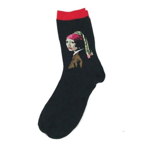 Men Women Famous Oil Painting Sport Socks Casual Couple Calf Ankle Socks 1 Pair