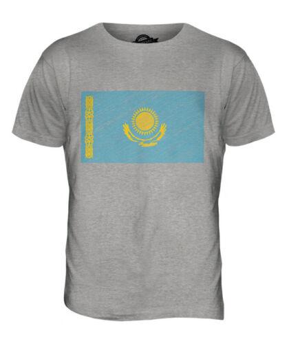 KAZAKHSTAN SCRIBBLE FLAG MENS T-SHIRT TEE TOP GIFTQAZAQSTAN KAZAKHST?N