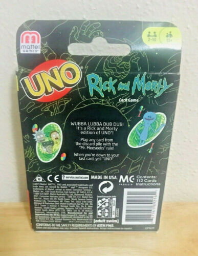 Rick and Morty Uno Card Game New /& Sealed!
