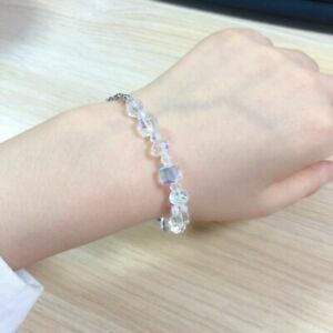 7-034-9-034-Beautiful-Aurora-Austria-Crystals-Bracelet-925-Silver-Wedding-Adjustable