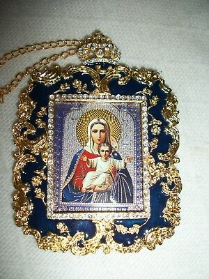Panagia Annunciation Metal Orthodox Small Icons Gold Plated