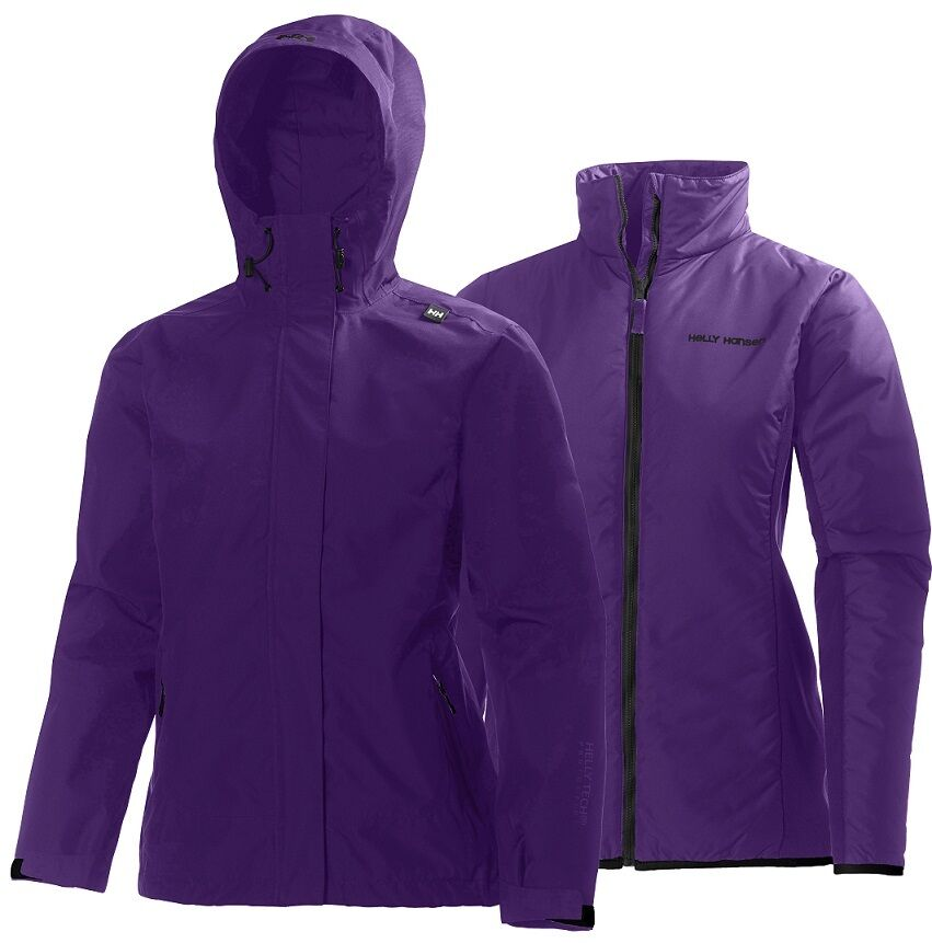 Helly Hansen W Squamish CIS 3 in 1 Jacket 62376/107 Sunburned Purple NEW