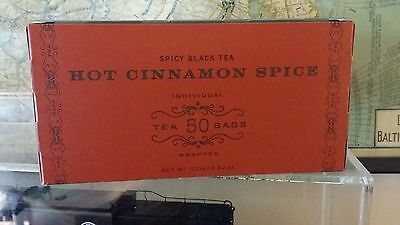 Harney & Sons 50 count box Spicy Black Tea HOT CINNAMON SPICE teabags