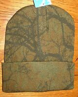 Hardwood Camo Real Leaf Tree Camoflauge Stocking Cap Watch Cuffed Hunting Ski