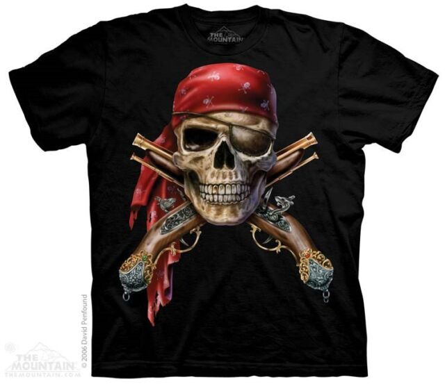 New The Mountain Pirate & Skull Muskets T Shirt