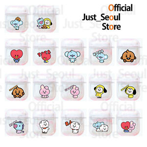 Official BTS BT21 Pink Aqua Glitter Airpods Case Cover Baby Ver+Freebie+Tracking
