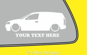 2x-LOW-YOUR-TEXT-Vauxhall-Astra-G-Mk4-VAN-outline-sticker-298