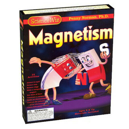 Ny ScienceWiz Magnetism Kit för åtta år gammal