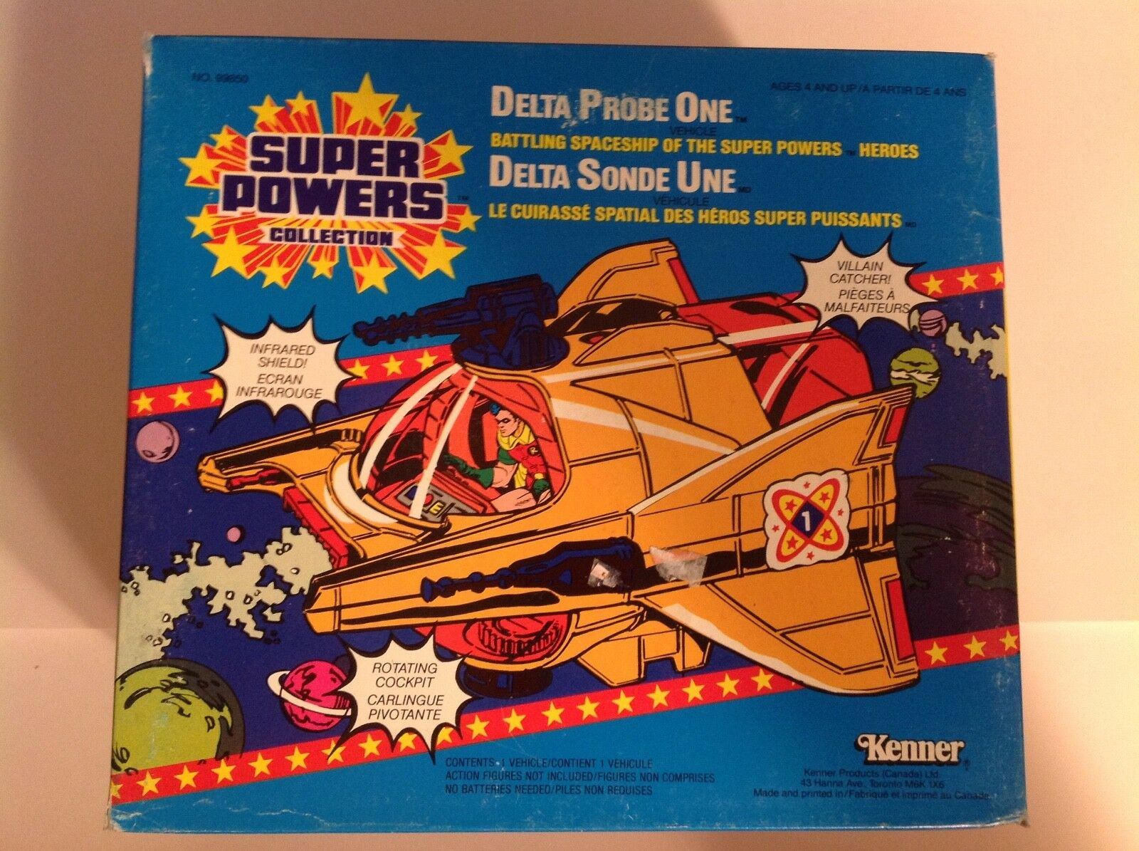 Kenner Super Powers Collection Delta Probe One Canadian sealed box MISB1985