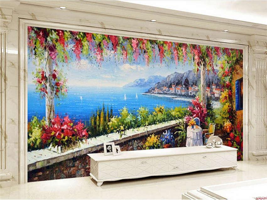 Great Lakeside Villa 3D Full Wall Mural Photo Wallpaper Printing Home Kids Deco