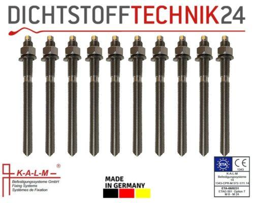 Ankerstange 10x Kalm Ankerstangen ASK Edelstahl A4 M16 x 250 mm Profi