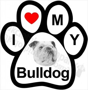 I LOVE MY BULLDOG T-SHIRT-WOMENS MENS -S M L XL 2XL 3XL 4XL 5XL