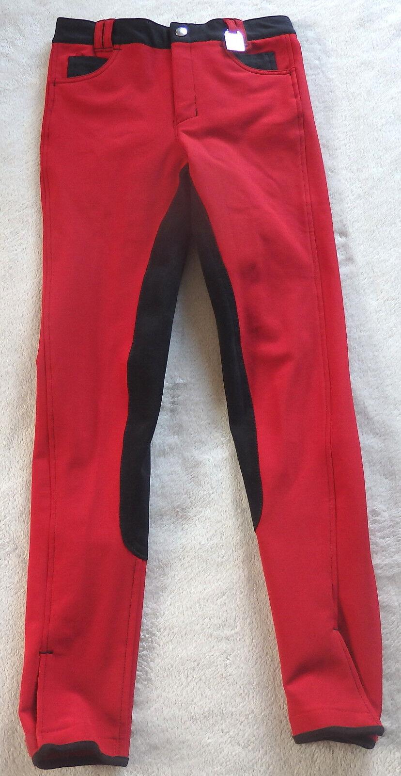 Kyron Kinder Reithose, 3 4 Vollbesatz,red,Gr 158, SIXTY, slim-line (78)
