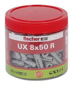 Fischer-Duebel-UX-Universalduebel-8x50-R-mit-Kragen-75-Stueck-in-Dose