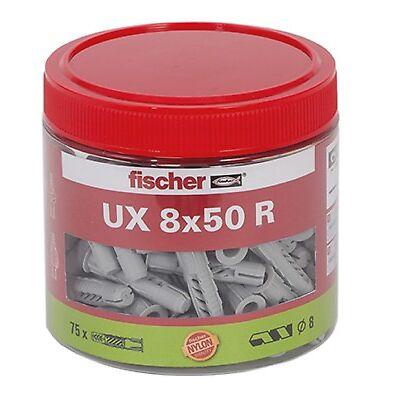 Fischer Dübel UX Universaldübel 8x50 R mit Kragen - 75 Stück in Dose