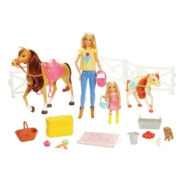 Barbie e Chelsea Hugs'S  n'horses Playset 15 PEZZI NUOVO  marchi di stilisti economici
