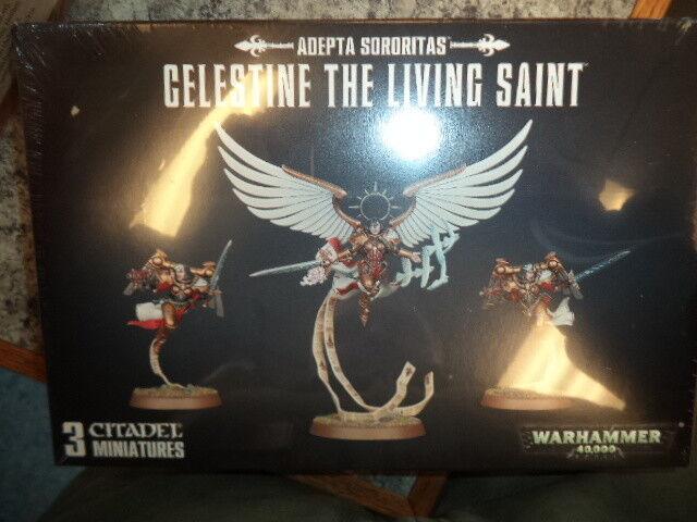 Compra calidad 100% autentica Celestina, el santo santo santo viviente Adeptus sororitas Warhammer 40k Modelo 40,000  nuevo   descuento de ventas