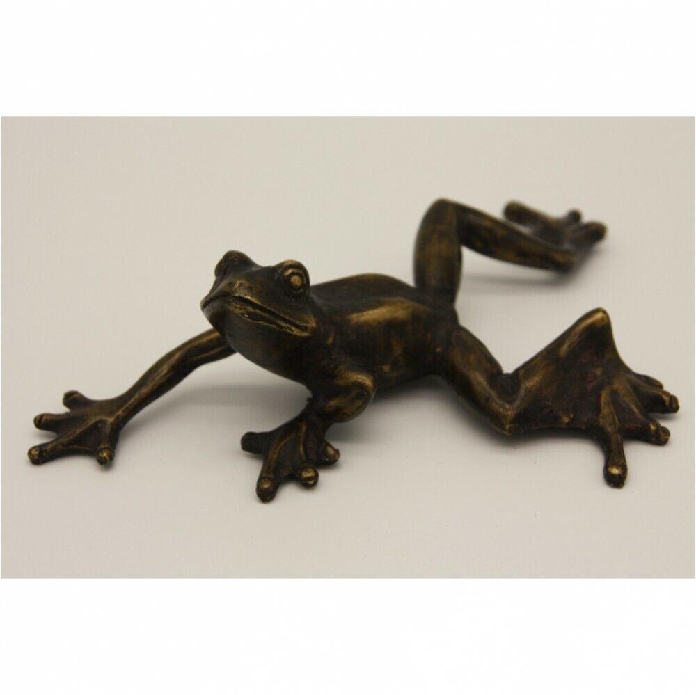 Echado rana de Bronce ranas animal animales sapo wohndeko teichdeko mu-130