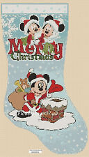 Disney  Cross stitch chart Christmas Stocking  Mickey Mouse FlowerPower37-UK