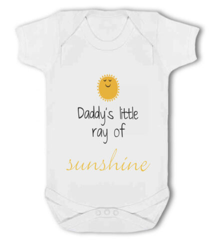 Daddys Little Ray of Sunshine cute Baby Vest