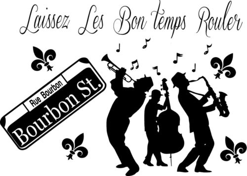vinyl wall decal Jazz Players,Laissez Les bons temp rouler Bourban St