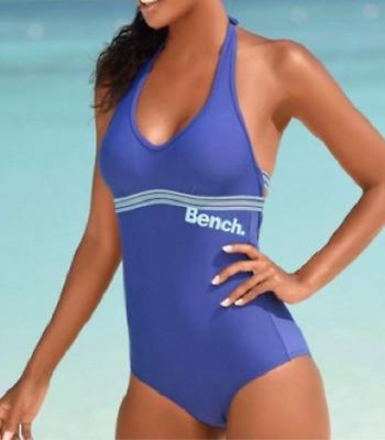 Wunderschöner Badeanzug mit Softcups 40-44 Cup C  in Blau und Schwarz