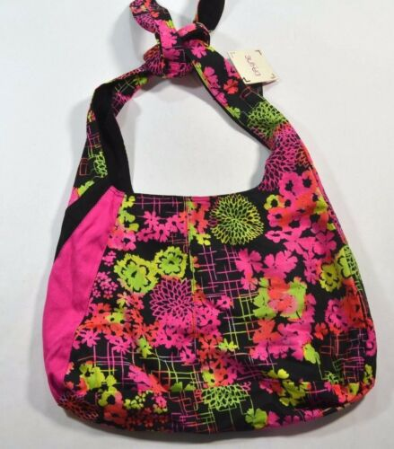 Dakine JESSA Avalon Floralescent Adjustable Tie Straps Tote Shoulder Bag Purse