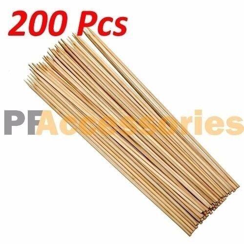 200PCS Amersumer 7 Inch Bamboo Picks Paddle Skewers BBQ Picks