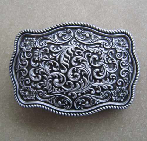 FLORAL Western Design Belt Buckle Ornament Fibbia Cintura * 418