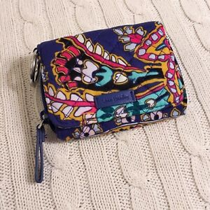 Vera-Bradley-Iconic-RFID-Card-Case-Romantic-Paisley-Blue-Small-Wallet-NWT-Exact