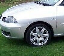 Seat Ibiza 2002-2006 Nearside Passenger Front Wing Painted Reflex Silver LA7W