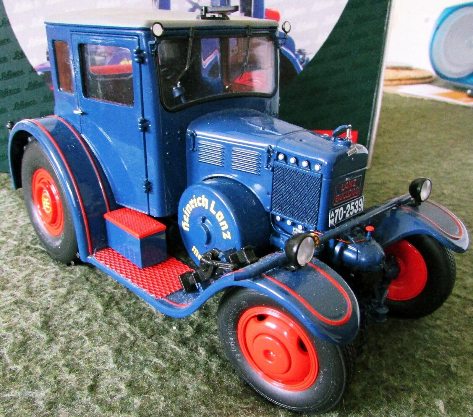 Schuco Lanz Eilbulldog Bulldog Scale 1 18 cabine fermée tracteur édition limitée