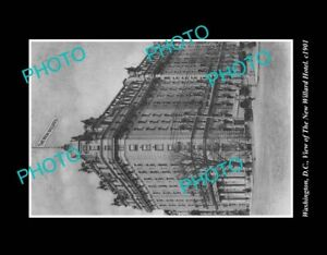 OLD-POSTCARD-SIZE-PHOTO-WASHINGTON-DC-USA-VIEW-OF-THE-NEW-WILLARD-HOTEL-c1901