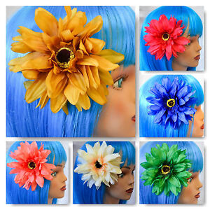 GORGEOUS-6-5-034-SUNFLOWER-HAIR-BARRETTE-AND-BROOCHE-FREE-DOMESTIC ...