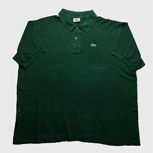 Homme-Polo-Lacoste-XXL-8-vert-a-manches-courtes-en-coton